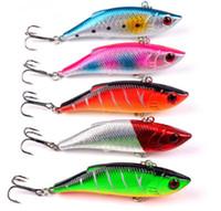 Wholesale 8cm Vib Lure - 1Pcs Crankbait VIB 8cm 9.7g Wobblers Hard Fishing Tackle Swim bait Crank Bait Bass Fishing Lures 8 Colors pike perch FA-262