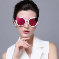 Wholesale Lunettes Cat Eyes - New Fashion Top Quality Cat Eye Sunglasses For Women UV400 Female Sun Glasses Lunettes De Soleil Driving Oculos De Sol Shades