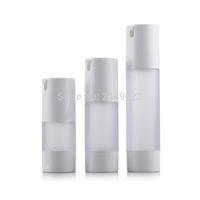 ingrosso bottiglia contenitore pompa-15 ml 30 ml 50 ml flacone senz'acqua bottiglia di vuoto smerigliato bottiglie riutilizzabili usati per contenitore cosmetico 10 pz / lotto