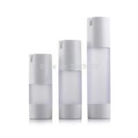 pumpenbehälterflasche großhandel-15ml 30ml 50ml luftlose Flasche bereifte nachfüllbare Flaschen der Vakuumpumpe-Lotion benutzt für kosmetischen Behälter 10pcs / lot