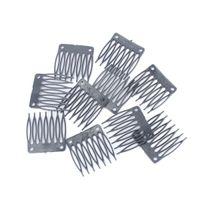 peruk kaplama rengi bej toptan satış-Peruk Aksesuarları Yedi diş Plastik Tarak 3.2 cm * 3.4 cm Peruk Saç Ücretsiz Nakliye Için Peruk Combs ve Klipler