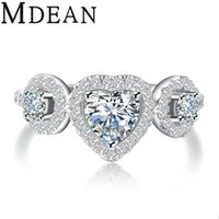 Wholesale Brilliant Diamond Rings - Brilliant Heart Cut Simulated Diamond Wedding  engagement Ring Sets Size 6 7 8