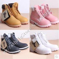 Wholesale Snow Cap Style - 10 styles casual Winter Western men women ankle Leather waterproof Tooling military boots sport Mens Martin Outdoor snow shoes