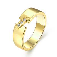 Wholesale Bridge Pattern - [Wait Reunion] Silver Gold & Rose Gold Ring Meet Bridge Pattern Shine Simple White Zircon Lady Ring