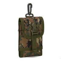 ingrosso casi di cintura telefono-Universale Tactical Outdoor Holster Militare MOLLE Hip Marsupio Borsa a portafoglio Portafoglio Cassa del telefono per iPhone / LG / HTC
