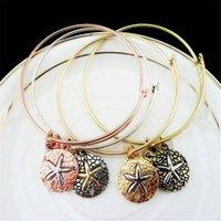 Wholesale Alex Ani Bracelet Gold - Alex and Ani Retro Charms Bracelet Alloy Gold Silver Vintage LOVE Sea Star Alloy Pendant Bracelet Christmas Gift