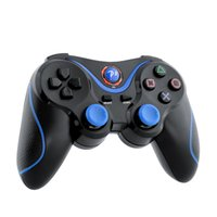 Wholesale Playstation Remote Controller - 2016 Wireless Game Bluetooth Remote Joystick Controller For Sony for PS3 Playstation 3 laptop Black Blue