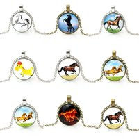 Wholesale Cheap Horse Necklaces - Vintage jewelry 2016 horse pendant necklace steampunk jewellery for women cheap promotion
