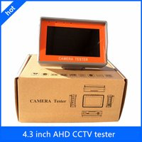 Wholesale Cctv Tester Dhl - DHL free shipping New wrist 4.3 inch TFT LCD CCTV test monitor AHD camera tester