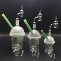 Wholesale glass cups for cupping - Starbuck Dabuccino Glass Cup Starbucks Dabuccino Rig Glass Bongs Dab Rigs With Free Quartz Banger 10mm 14mm 18mm Male For Glass Pipe Bong