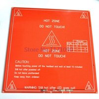 Wholesale Hot Sale Red PCB Heated Heat bed Heatbed MK2B Upgraded MK2A for Mendel RepRap CNC D printer Hot Bed HotBed Support V V