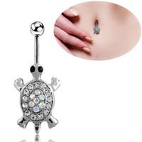 Wholesale Tortoise Ring Gold - Tortoise Medical Steel Navel Ring Percing Nombril Belly Piercing Belly Rings Body Jewelry Piercings Belly Button Rings