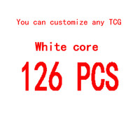 Wholesale Poker Pc Game - 126 Pcs TCG DIY white core Board game Custom 88X63MM