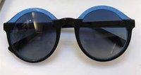 Wholesale Glam Alloy - 2017 Designer Women GLAM S Round Sunglasses Black BLue dark grey shaded Sunglasses Brand New with Box