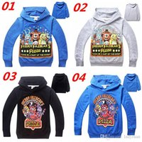 4T-14T Cinco noches en sudaderas con capucha de Freddy Sudaderas con capucha de Teddy Bear Outwear Five Nights en Freddys Bear sweatershirts Regalo de Navidad 008 #