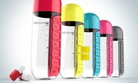 Wholesale Stainless Pill Box - Pill Box Organizer with Water Bottle Vitamin Tritan Creative Bottles GlassTransparent Cup Plastic Cups Seven Days Water Tumbler 11 yr R