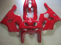 zımpara zx6r 95 kırmızı toptan satış-Satış sonrası vücut parçaları Kawasaki Ninja ZX6R 1994-1997 için kaporta kiti kırmızı kaporta çatlaklar set zx6r 94 95 96 97 OT22