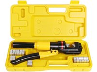Wholesale Hydraulic Crimping Crimper - 10 Ton Hydraulic Wire Battery Cable Lug Terminal Crimper Crimping Tool 9 Dies