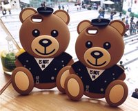 Wholesale Teddy Bear Cover For Iphone - 3D Silicone Sailor Teddy Bear Case Soft Case Cover Shockproof Shell Case For iPhone 6 6s iPhone 7 7 Plus