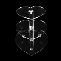 Wholesale Acrylic For Wedding Cake Stand - Wholesale-New 3 Tier Wedding Cake Crystal Stand Clear Acrylic Cupcake Stands for Wedding Decorated Birthday Party Cake Display Supply