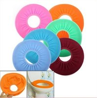 Wholesale Assorted Hair - O Shaped Toilet Seats Cover Flocking Toilet Cover for Bathroom - Color Assorted