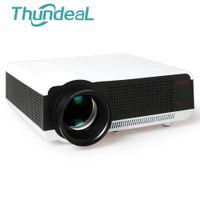 meilleur projecteur 3d complet achat en gros de-Gros-Meilleur Cadeau 2800lumen Wifi Projecteur Android 4.4.2 Full HD LED Daytime LCD 3D Projecteurs Projecteur Proyector Beamer Cinéma HDMI