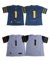 Wholesale Desean Jackson - 2017 California Golden Bears Jersey 1 DeSean Jackson Mens Blue White College Football Limited Football Jerseys Size M-XXXL