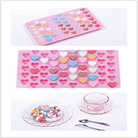 Wholesale Love Hearts Chocolate Mold - The silicone chocolate ice mold Love 55 even the heart shape silicone cake mold baking pan IB028