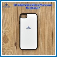 Wholesale 2D Silicon Sublimation phone case for iphone