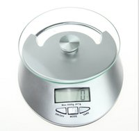 Wholesale Display Bowl - 50pcs Kitchen Scale 5KG 1g LCD Display Digital Bowl-shape Scale Household Kitchen Weight Tool