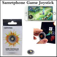 Wholesale Joypad Ipad Games - Mini Mobile Joystick Samrtphone Game Joypad Controller 3rd Genertaion Wireless Rocker Sucker Touch Screen Joysticks for ipad smartphones
