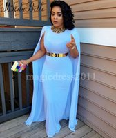 Wholesale Cowl Neck Prom Dress Chiffon - Chic Arabic Kftan Blue Evening Dresses with Cowl Back Sheath Collar Beaded Black Girl Couple 2017 Prom Party Gowns Women Pageant Runway