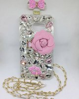 Luxo Perfume diamante brilhando Rhinestone com ombreira capa capa capa shell para iPhone 5 iPhone 6 e Plus iPhone 7 e Plus