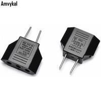 adaptadores elétricos universais venda por atacado-Amvykal Alta Qualidade Universal UE Para EUA Plug Adapter EUA Carregador de Viagem Plugue Elétrico Adaptador 2 Pinos Conversor Tomada