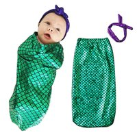 Wholesale baby bedding fishing - Baby Sleeping Bag anti Tipi Clouds Printed BeddiBaby Sleeping Bag Fish scales Pring Kids Infant Bed Warm Wrap Sleeping Sack With Striped Hat