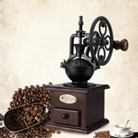 Wholesale Home Decoration Hand Ceramic - Ferris Wheel Design Vintage Manual Coffee Grinder With Ceramic Movement Retro Wooden Coffee Mill for Home Decoration Hand Coffee Bean Makers