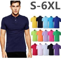 Wholesale Wholesale Brand Polo - Men Polo High quality Big Horse Embroidery Poloshirt Casual Polo Shirts Short Sleeve Tops 2017 Summer Polos Homme Brand Clothing