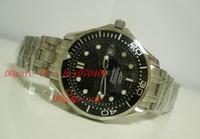 Wholesale Sapphire Sea Crystal - Men'S Sea James Bond 007 Watch Black Dial Automatic Movement Sapphire Crystal Dive Sport Wristwatch Mechanical Wrist Mens Watch