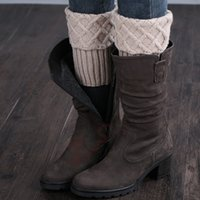 Wholesale Boot Covers Pattern - Wholesale-Gaiters Crochet Knit Boot Cuffs Boot Socks Crochet Free Patterns Thermal Boot Covers Short Leg Warmers