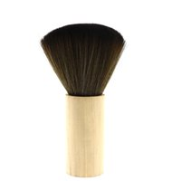Wholesale brush hairdresser - Soft Hair Wooden Handle Neck Duster Brush Salon Hairdressers Hair Cutting Facial Hair Cleaning Brush Professional Barber Styling Tool