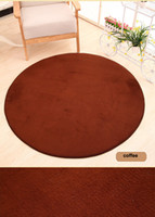 Wholesale Polyester Shaggy Carpets - 1pc 80cm Thick floor Rug Area Soft Solid Anti-skid Area Carpets for Living Dining Bedroom Fluffy Flokati Shaggy Home Mats Rug CD003