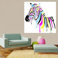 Wholesale Black Arts Oil - 40*40cm New Arrival Oil Paintings Black And White Simplicity Zebra Spray Paints Unframed Wall Art Canvas Painting