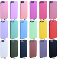 Wholesale Thicknesses Silicone - High Quality 1.4mm Thickness Candy Color Matte Soft TPU Silicone Case Cover For Iphone 7 6 6s plus 6s 5s Many Color Available