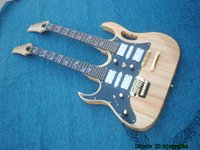 Wholesale Double Neck Left Hand - Left Handed Natural 6 6 Strings Double Neck Electric Guitar High Quality Wholesale