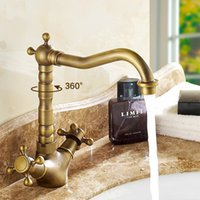 Wholesale Widespread Bathroom Faucet Nickel - All Copper Bathroom Faucets Gorgeous elbow Basin Faucet Hot and Cold Water Tap 2 Styles