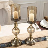 Wholesale Hurricane Lamp Oil - Ball shape metal candle holderwith 1pc free candles, decorative candle stick