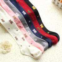Wholesale Combed Cotton Child Sock - Children combed cotton bear pantyhose girl socks JAI