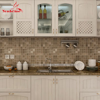 Ome Decor Wall Stickers 5Meter PVC Wall Sticker Bathroom Impermeável Auto-adesivo Papel de parede Kitchen Mosaic Tile Stickers For Wall Decal ...