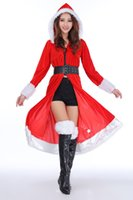 Wholesale Capes Costume Red Riding Hood - Women's Red Riding Hood Cape with Hood Halloween Costumes Fairytale Princess Costume Christmas Cape for Women Christmas Clothing Sexy