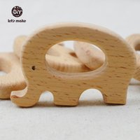 Atacado- 20PCS Original Charm sólida Eco-friendly Beech Wood Elephants Charm Jóias Making Accories Handcrafted Animal DIY Kits